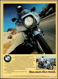 1977 BMW R100RS Motorcycle you own the road retro photo print ad ads49
