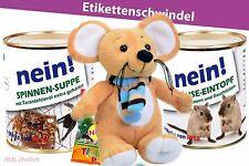 Konserven Dose Spinne Gag Überraschung Spielzeug Maus Stofftier Plüsch- braun