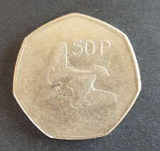 Old Irish Ireland 50p Fifty Pence Coin Available Dates 1970 - 2000