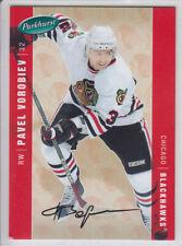 2005-06 UD PARKHURST PAVEL VOROBIEV /100 FACSIMILE AUTO PARALLEL #105 Blackhawks