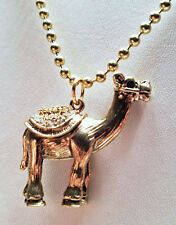 Camel pendant and gold colored ball chain