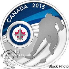Canada 2015 $10 Winnipeg Jets NHL Hockey Silver Coin