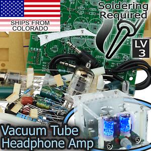 Vacuum Tube Headphone Preamp Amp Dual 6J2 LM1875T Amps DIY [SOLDERING REQUIRED]