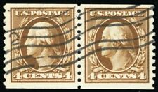 446, Used 4¢ VF Nicely Centered Coil Pair PSE Certificate - Stuart Katz