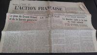 Diario Nacionalista ACCIÓN Francesa 17 Mars 1934 N º 76 ABE