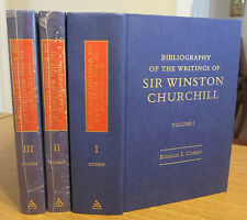 Bibliography of the Writings of Sir Winston Churchill; 3 Vol. Set; Ronald Cohen