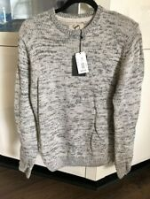 Brand New STRAY Mens Knitted Jumper Sizes S M L Grey wool acrylic $90 FREE POST
