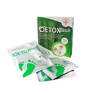 cerotti detox per Piedi 20Pz 100%Natural Disintossicanti Elimina Tossine