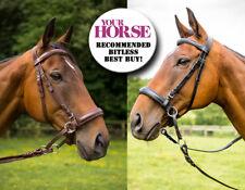 2018 New Easytrek leather bitless Bridle-Pony, Cob, Full, X Full, Black or Brown