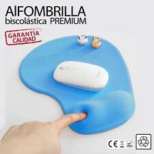 Alfombrilla para raton ergonomica biscolastico apoyo de Gel reposamuñecas azul