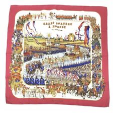 Hermes Red Grand Cortege A Moscou Rare And Vintage Silk Scarf 35