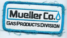 Mueller Co Gas Products Division employee/driver advertising patch 2 X 4 #1675