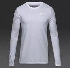 XXL Nike Men's Cristiano Ronaldo CR7 Soccer Long Sleeve Shirt White 806464-100