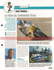 Jack FINDLAY Grand Prix Continental Circus Joe Bar Team Fiche Moto #003912