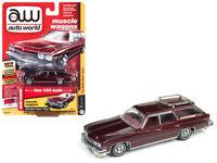 1974 Buick Estate Wagon Diecast Car 1:64 Auto World Muscle 3 inch Burgundy 64182
