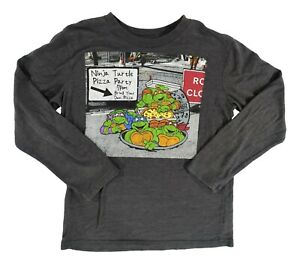 Boys Large 10-12 Nickelodeon TMNT Soft Long Sleeved Shirt Preowned