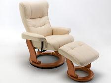 Relaxsessel Montrealo Fernsehsessel mit Hocker Echleder creme 5801