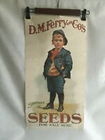 """Vintage D.M.Ferry & Co. Standard Seeds Advertising Poster Reprint- 1960's 24X11"""""""