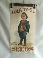 Vintage D.M.Ferry & Co. Standard Seeds Advertising Poster Reprint- 1960's 24X11""