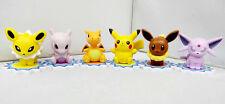 Pokemon Figure set of 6 - Cake Toppers (charizard, Pikachu, Eevee, Mewtwo)