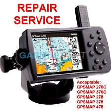 Repair Service for Garmin GPSmap 276C 376C 278 378 478 Color Chartplotter GPS