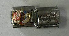 1 Coca-Cola Ice Cold Coke Logo Casa D'Oro Add-A-Link CHARM  CC17