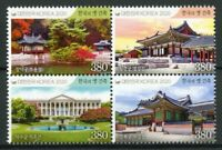 South Korea Architecture Stamps 2020 MNH Royal Palaces Trees Landscapes 4v Block