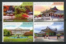 South Korea Architecture Stamps 2020 MNH Royal Palaces Trees Landscapes 4v Block