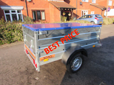 NEW Car trailer Double Broadside box trailer with flat cover 750kg