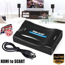 1080P HDMI à Péritel Vidéo Composite Écailleur Adaptateur Audio pour DVD Sky