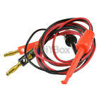 5Pair (Red+Black) Banana Plug To Test Hook Clips Probe Lead Cable For Multimeter