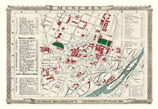 George Bradshaw'S CONTINENTAL Città Piano di MUNCHEN 1896 - 1000 Pezzo Puzzle