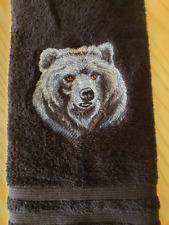 MAJESTIC BEAR HAND TOWEL SET CUSTOM EMBROIDERED
