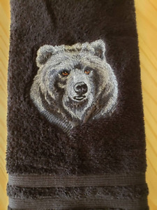 MAJESTIC BEAR HAND TOWEL SET CUSTOM EMBROIDERED