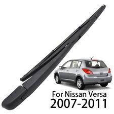 Windshield Rear Wiper Blade Arm Set 14''  Fit For Nissan Versa 2007-2011