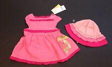 NWT Gymboree Monkey Island 0-3 Months Pink Ruffle Dress & Hat