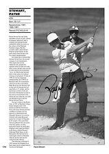 Payne Stewart Signed 8x12 Inch Book Page AFTAL/UACC RD