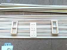 """dollhouse miniatures Log Cabin Siding House Conversion Strips 34"""" long rounded"""