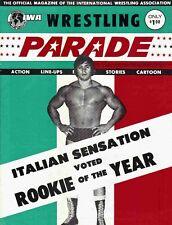 IWA Wrestling Program (1975, NJ) Rookie of Year Dino Bravo, Brower, Mil Mascaras