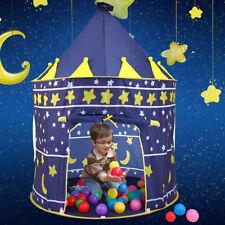 Play Tent Portable Folding Pop Up Blue Kids Girl Princess Castle Outdoor House
