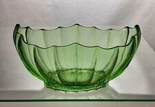 Vintage Uranium Green Glass Vase