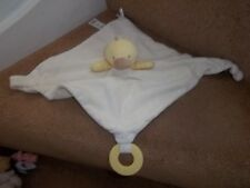 MARKS SPENCER YELLOW WITH LOVE DUCK BABY COMFORTER BLANKET TEETHER 08870551