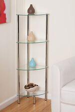 4-Tier clear glass corner rack-Polo 4Tier Display Glass Unit/Bathroom Rack-GR12C