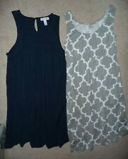 Lot 2 Liz Lange & Baby be Mine Maternity sleeveless empire waist dresses Size S
