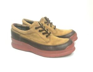 Cole Haan Waterproof Brown Leather Tan Suede Low Hiking Shoe Size 8M F8252