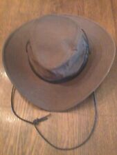 Australian Outback Oilcloth Downunder Hat, Brown, Large, NEW