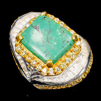 Turquoise Ring Silver 925 Sterling Fine Art Jewelry Design Size 9 /R145956