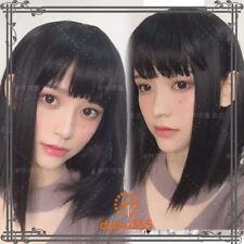 Vintage Elegant Kawaii Gothic Daily Harajuku Lolita Black Straight Hair Wig#N14