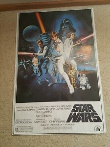 Vintage Star Wars Original Movie Poster 1977 36 inches by 24 inches