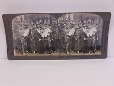 Keystone Stereoview #19153,WWI,Happy Reunion for  Home-coming Soldier Fathers